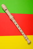 White plastic flute isolated Royalty Free Stock Images