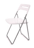 White plastic folding chair Royalty Free Stock Photography