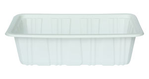 White plastic food container isolated white Stock Images