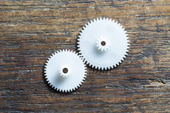White Plastic Gears Royalty Free Stock Photo