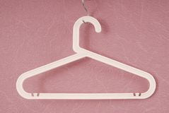 White plastic hanger Stock Photography