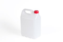 White plastic jerrycan Royalty Free Stock Images