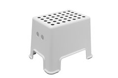 White plastic low stool Stock Photo