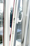 White plastic opened window Stock Image