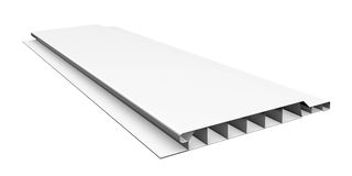 White plastic panel Stock Image