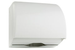 Paper towel dispenser white plastic Royalty Free Stock Photography