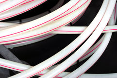 White plastic pipes before use Royalty Free Stock Images