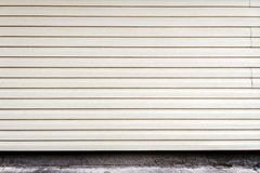 White plastic plank wall Royalty Free Stock Image