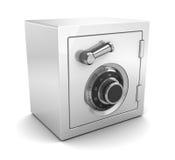 White plastic safe Stock Image