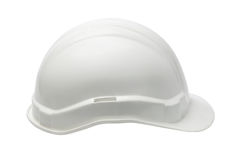 White Plastic safety helmet Stock Photo