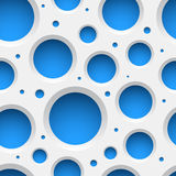 White plastic seamless pattern with holes. Stock Photo