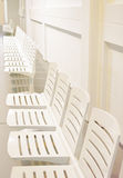 White plastic seats Royalty Free Stock Image