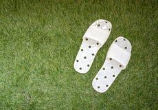 White plastic slippers Stock Image