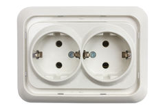 White plastic socket Stock Image