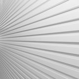 White plastic striped wall Stock Image