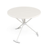 White plastic table. 3d. Stock Image