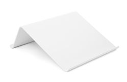 White plastic tablet stand Royalty Free Stock Photos