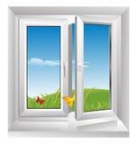 White plastic window Royalty Free Stock Photography