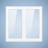 White plastic window Stock Photography