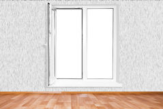 White plastic window. On white background Stock Images
