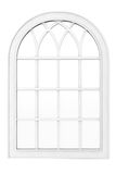White Plastic Window. On a white background Stock Photo