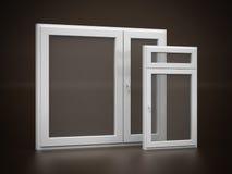 White plastic window Stock Images
