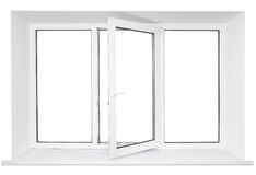 White plastic window frame Royalty Free Stock Photo