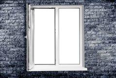 White plastic window. Isolated on white background Royalty Free Stock Image