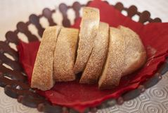 white plastry chleba Zdjęcie Stock