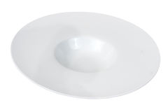 White plate. New white plate over white background Stock Photos
