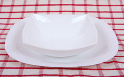 White plate Stock Images
