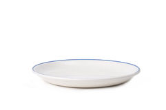 White Plate Stock Photography