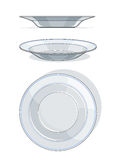 White plate. Vector illustration isolated on background Royalty Free Stock Photography