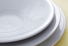White plate royalty free stock images
