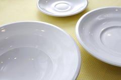 White plate Stock Photos