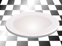 White plate 3d Royalty Free Stock Image
