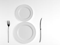 White plate Royalty Free Stock Photos