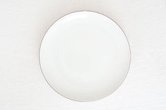 White plate. On white background Stock Images