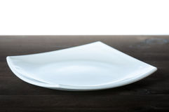 White plate Royalty Free Stock Photography