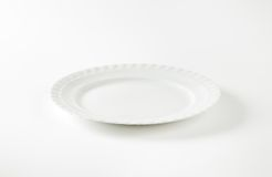 White plate Stock Image