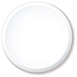 White plate flat Stock Images