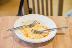 Eaten food Royalty Free Stock Images