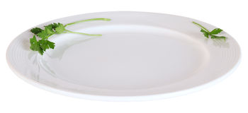 White Plate. Isolated Stock Images