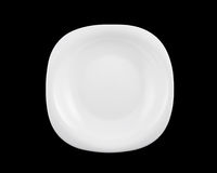 White plate isolated Royalty Free Stock Photography