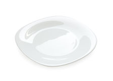 White plate isolated Stock Images