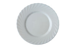 White plate isolated Royalty Free Stock Images