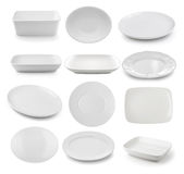 White plate isolated Royalty Free Stock Photos