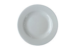 White plate isolated Stock Photos