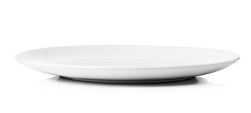 White plate isolated on a white background Stock Image