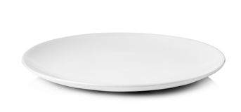 White plate isolated on a white background Stock Images